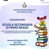 INAUGURAZIONE SCUOLA SECONDARIA DI PRIMO GRADO
